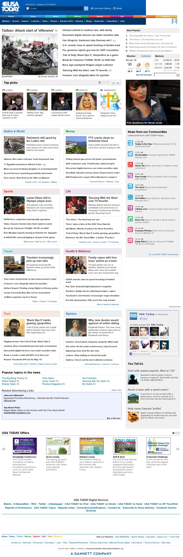 USA Today at Wednesday May 2, 2012, 3:14 p.m. UTC
