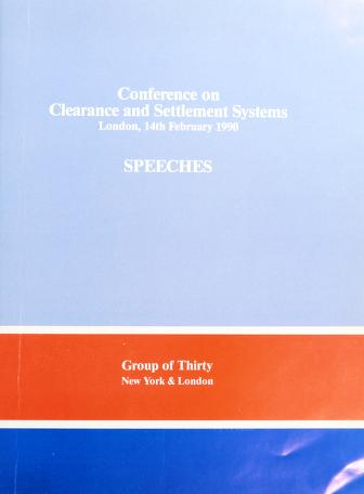 Cover of: Conference on clearance and settlement systems | Group of Thirty