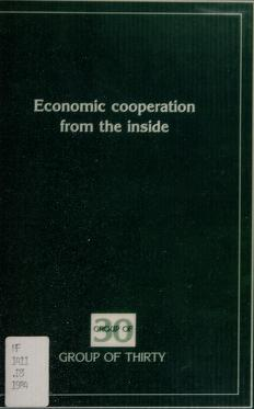 Cover of: Economic cooperation from the inside | Marjorie Deane