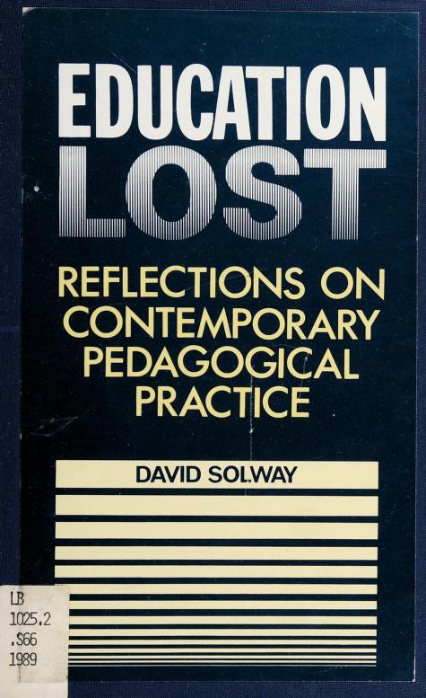 Education lost by David Solway