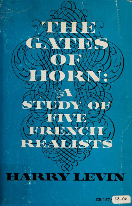 The gates of horn by Harry Levin