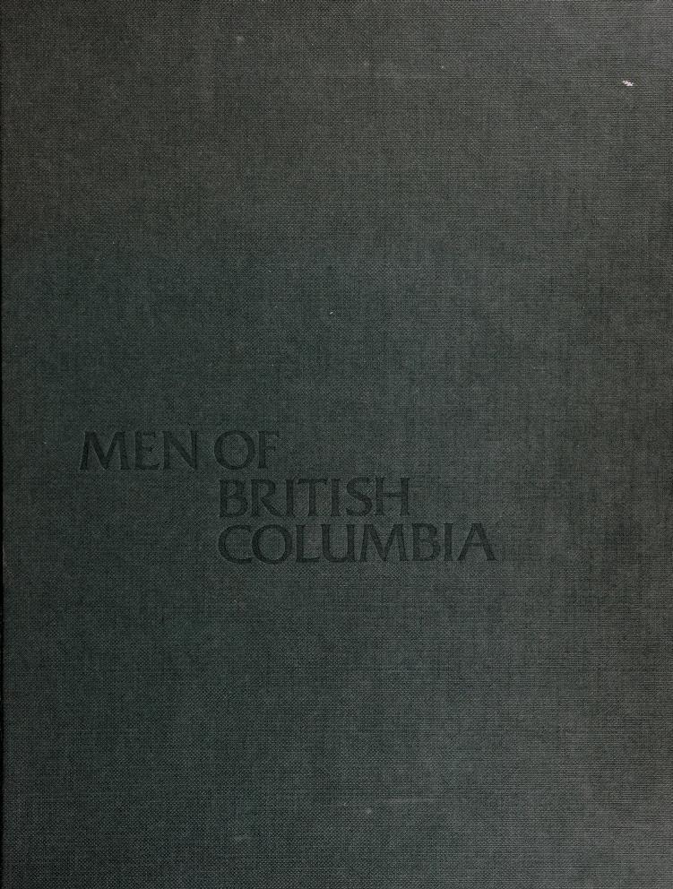 Men of British Columbia by Derek Pethick