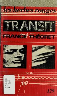 Cover of: Transit   France Théoret