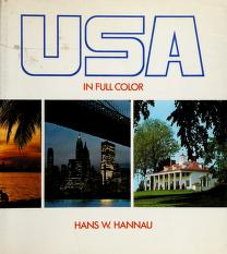 Cover of: USA in full color | Hans W. Hannau