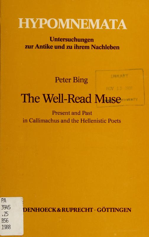 The well-read muse by Peter Bing